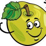 funny apple fruit cartoon illustration
