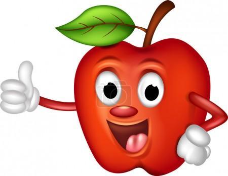FotkyFoto_roztomile-cervene-jablko-palce-kresleny-obrazek_18831759