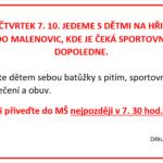 7. 10. 2021 - Sportovní dopoledne v Malenovicích